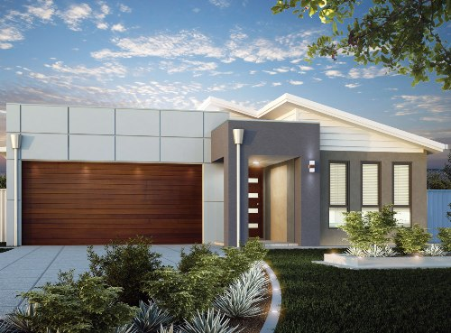 Model rumah minimalis 1 lantai konsep hijau