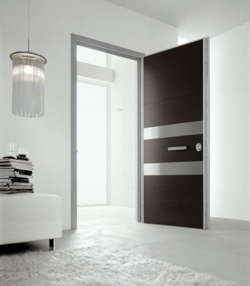 Pintu minimalis satu daun untuk penghubung antar ruangan