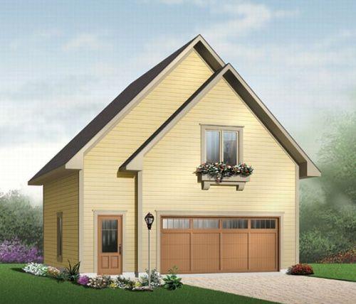 Rumah bergaya Perancis dengan atap runcing model pelana