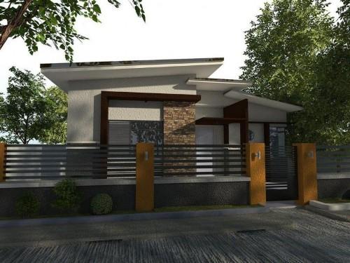 Rumah minimalis 1 lantai dengan konsep alami