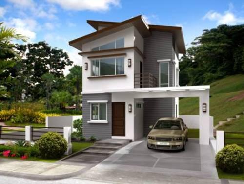 model rumah minimalis modern 2 lantai di kawasan tepi bukit