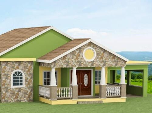 pics photos contoh warna cat dinding luar rumah modern