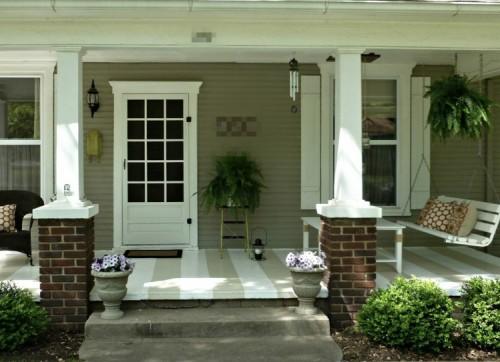 Bentuk teras rumah minimalis alami