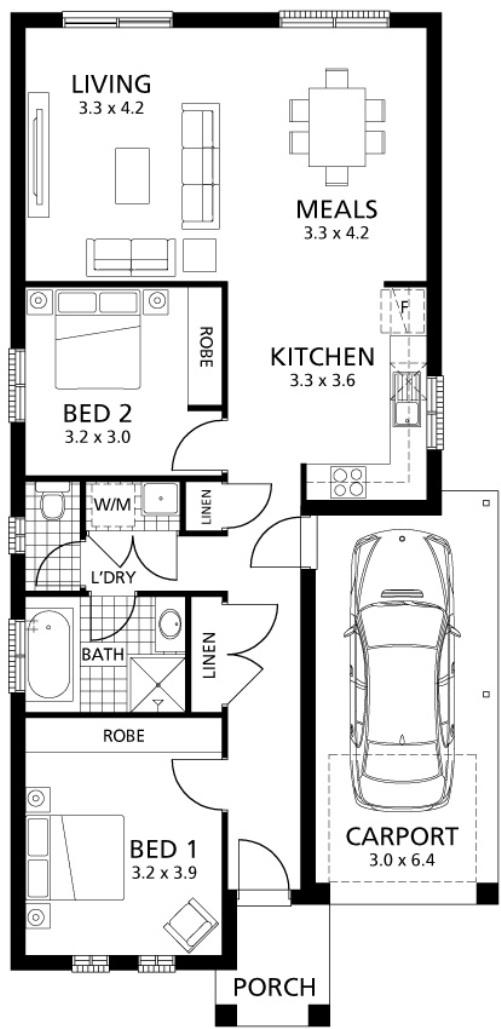 Contoh denah rumah type 36 2 kamar tidur]