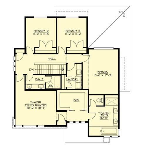 Contoh pembagian ruang di lantai 2