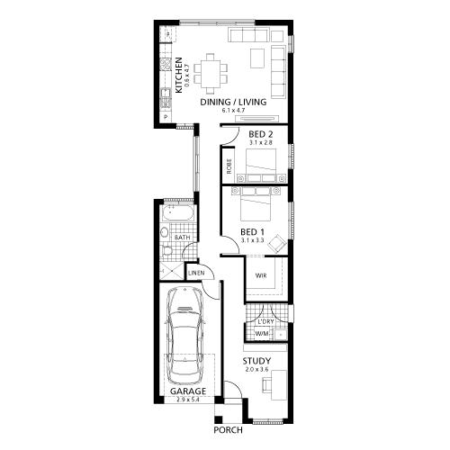 Contoh pembagian ruang di rumah type 45 2 kamar tidur
