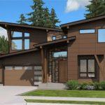 Sketsa Rumah Minimalis 2 Lantai dengan Taman Luas