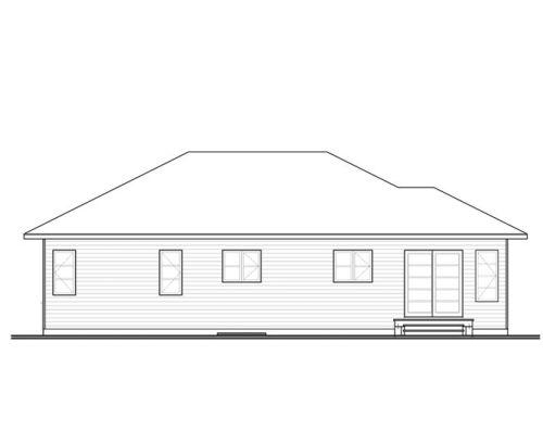 Contoh sketsa eksterior rumah 1 lantai
