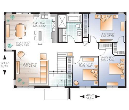 Contoh sketsa pembagian ruang rumah minimalis 3 kamar tidur