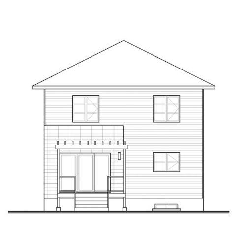 Contoh sketsa rumah minimalis 2 lantai