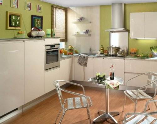 Dapur minimalis dengan layout simple