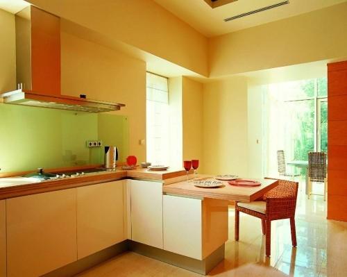 Dapur segar dengan minibar
