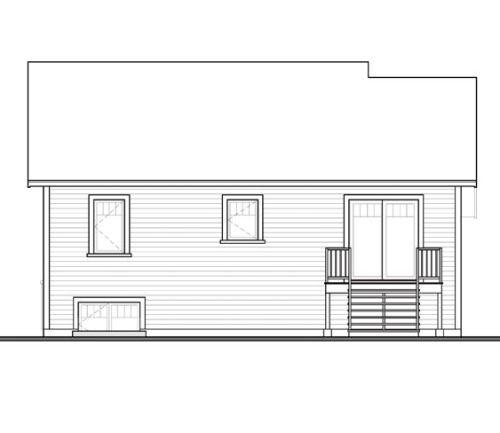 Sketsa ranch house tampak depan untuk rumah minimalis