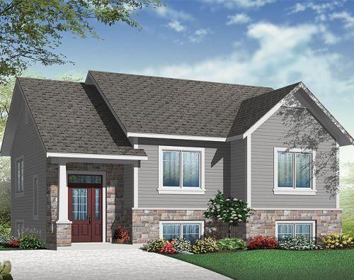 Model rumah minimalis type 36 inspirasi ranch house