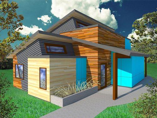 Rumah Tingkat Minimalis Dengan Fasad Unik