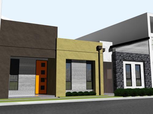 Rumah modern minimalis di kawasan perkotaan