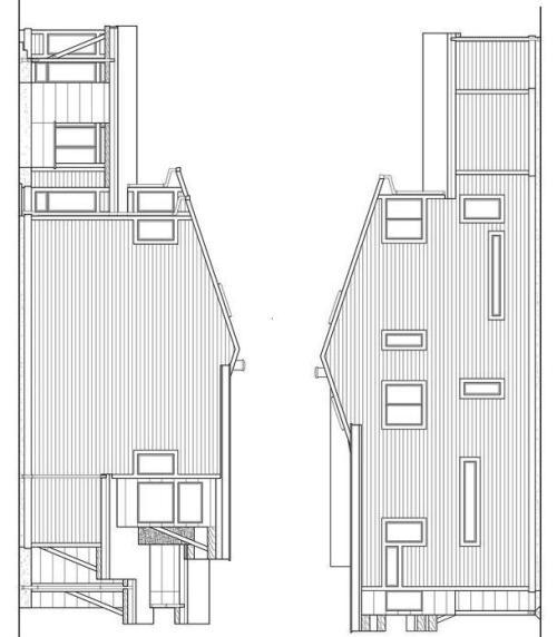 Sketsa rumah type 90 2 lantai, tampak kiri dan tampak kanan