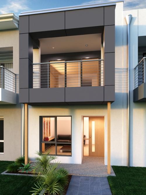 rumah modern minimalis 2 lantai di tengah kota