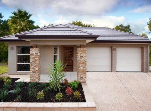 Batu alam rumah minimalis - Houseandland