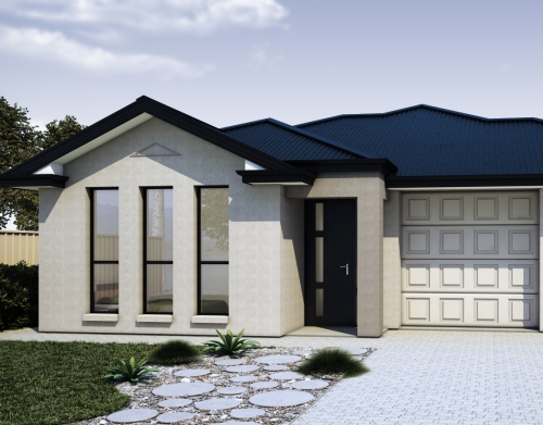 Bentuk depan rumah minimalis bernuansa netral - Houseandland