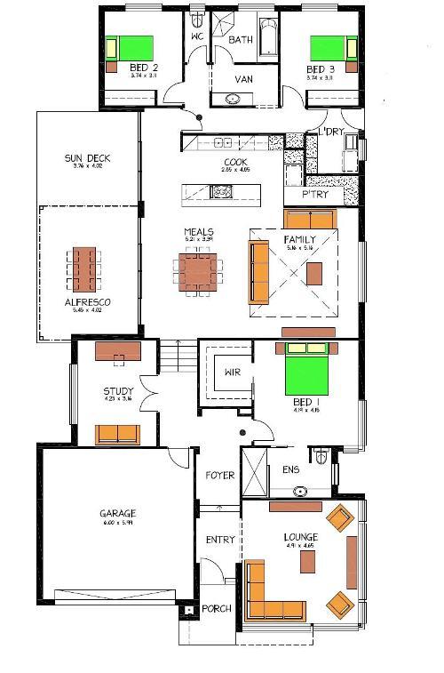 Contoh denah Rumah Minimalis Lantai 2 - Houseandland