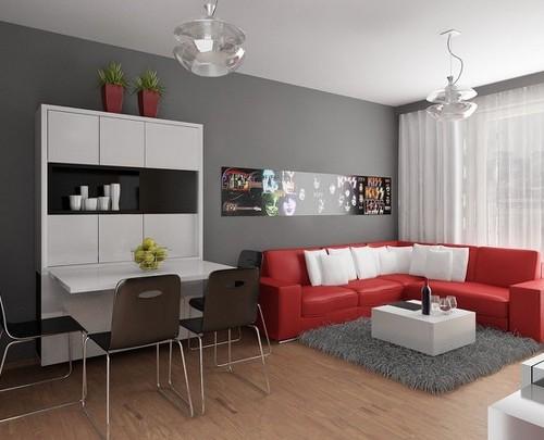 Contoh desain interior rumah minimalis type 45, ringkas dan serba guna
