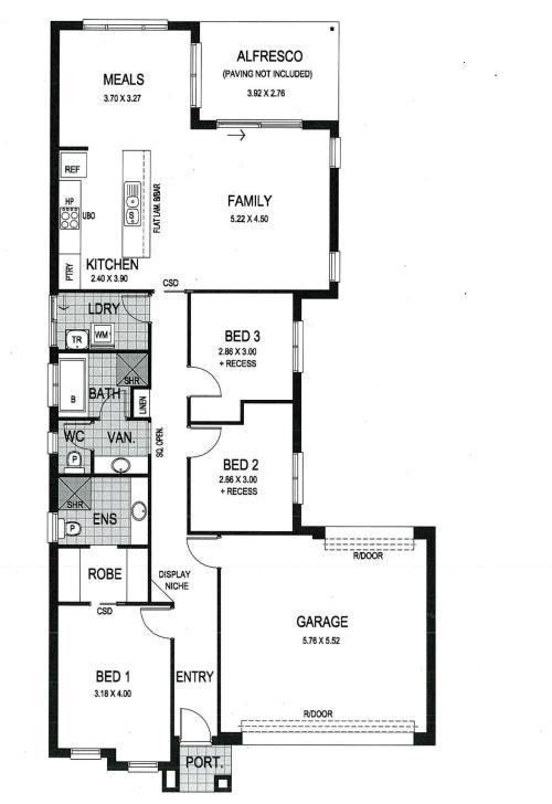 Contoh interior rumah type 60 dengan 3 kamar tidur - Houseandland