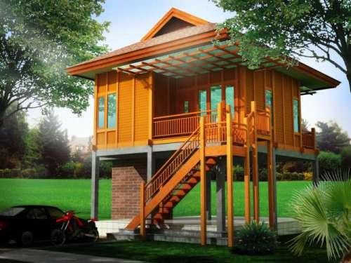 Desain rumah panggung minimalis - Rumahkayumurah