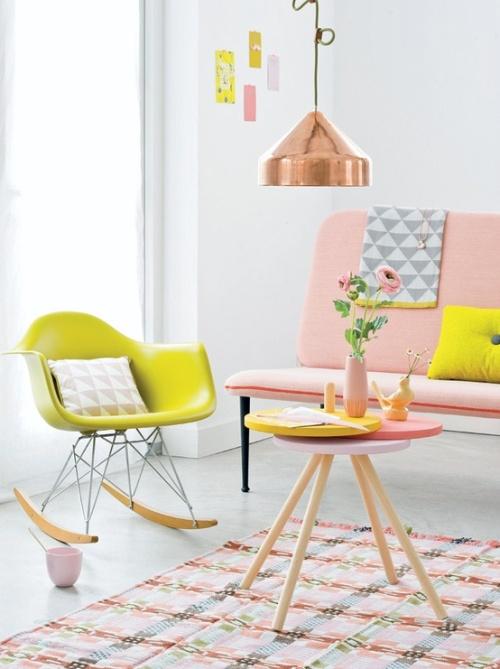 Sentuhan warna feminin di interior rumah - Hannahinthehouse