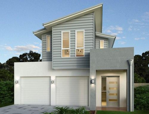 atap rumah minimalis model miring atau sandar