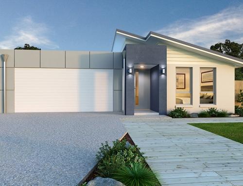 model atap rumah minimalis 1 lantai campuran atap datar dan miring