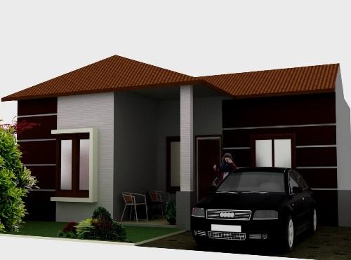 Cat rumah minimalis coklat untuk eksterior - Desainic