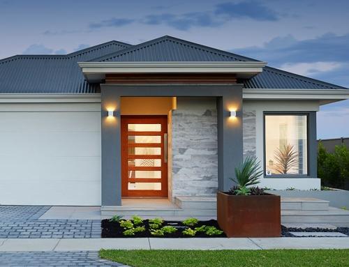 Contoh eksterior cantik rumah minimalis type 36 - Houseandland