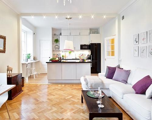 Dapur sebagai partisi di rumah minimalis - Avadorausa