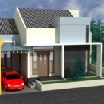 Denah Rumah Minimalis Modern 1 Lantai untuk Ruko