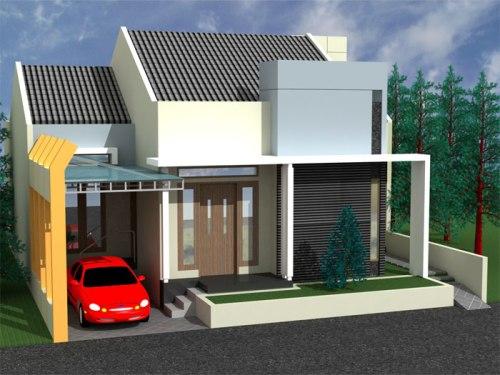 Denah rumah 1 lantai dengan toko - Sassymeihome