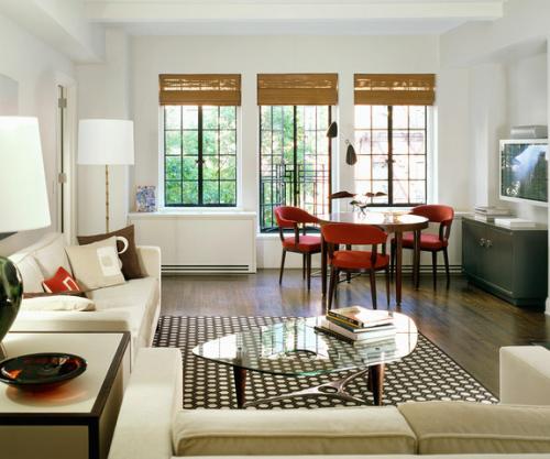 Interior rumah kecil minimalis dengan meja makan bulat - Freshome