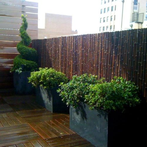 Pagar bambu berukuran tinggi untuk halaman belakang - Bambooandtikis