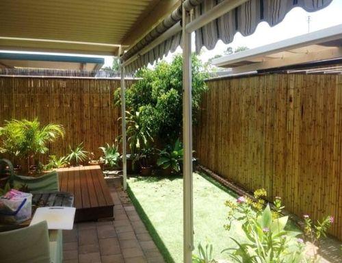Pagar rumah minimalis bambu - Sunsetbamboo