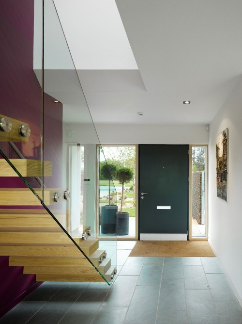 letak tangga pada desain rumah minimalis 2 lantai