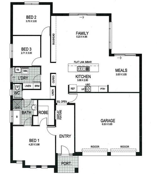 denah rumah minimalis 3 kamar tidur dengan 2 garasi - Houseandland