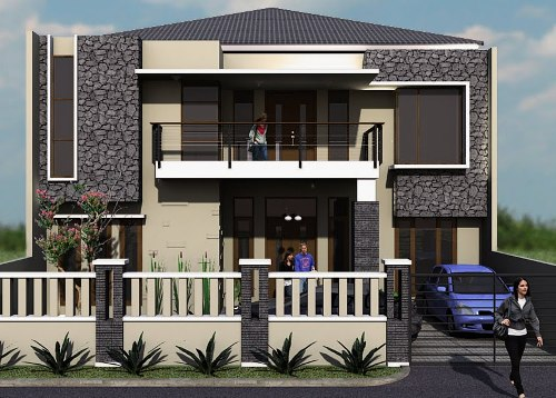 Batu alam rumah minimalis - Rumahidamantropis 2