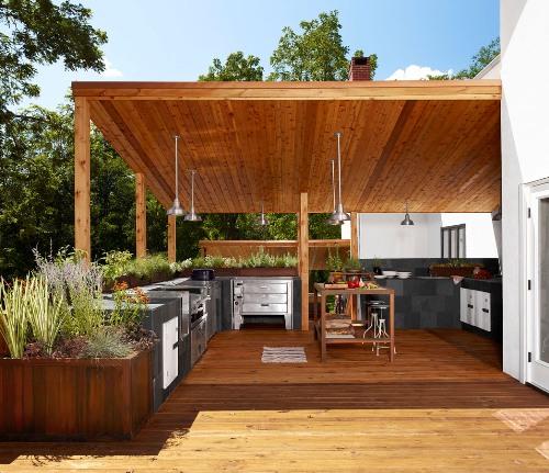 Bentuk rumah minimalis 2 lantai dengan dapur outdoor - Maricamckeel