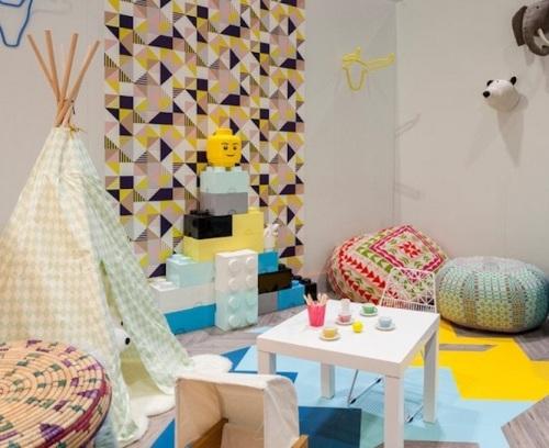 Campuran pola dan warna di kamar anak - Freshome