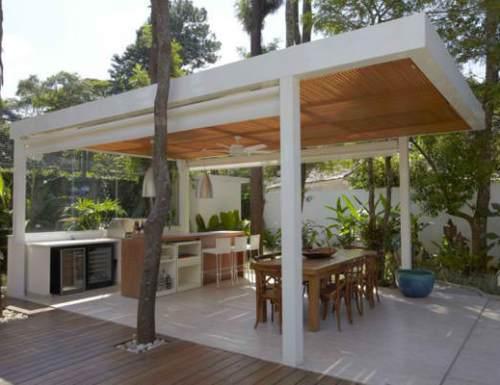 Dapur outdoor dengan konsep terbuka - Picturesplace
