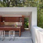 Bentuk Rumah Minimalis Modern dengan Dapur Outdoor