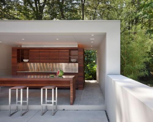 Dapur outdoor modern pada rumah minimalis - Brainlid