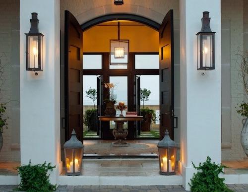 Fasad rumah minimalis dengan trik lighting - Stagetecture