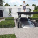 Denah Rumah Minimalis 1 Lantai dengan Parkir Basement