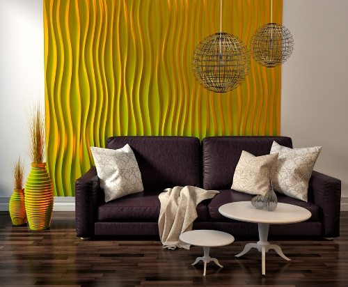 Dinding dengan wallpaper sebagai focal point - Shutterstock